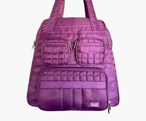 LUG Puddle Jumper Overnight Bag Purple Plum Quilted Gym Travel Duffel Carry On