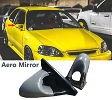 FIT 99-00 EK HONDA CIVIC 3DR JDM AERO SIDE MIRROR MANUAL UNPAINTED