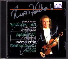 Thomas ZEHETMAIR & Christoph ESCHENBACH Signed SCHUMANN Violin Concerto Fantasie