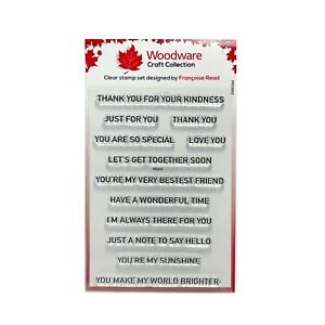 Sentiments Stamp Words Thoughtful Strips Woodware Clear Cling Craft Stamps