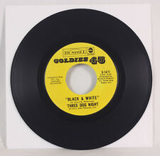 """45RPM Record Three Dog Night """"Black And White"""" """"Freedom For The Stallion"""" 1973"""