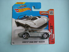 Diecast Hotwheels HW Race Corvette Grand Sport Roadster Grey on Blister