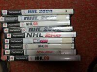 Lot Of 9 Playstation 2 Hockey Games Nhl And 2k
