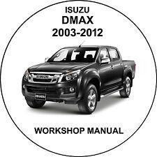 isuzu dmax 2003-2012 Workshop Service Repair Manual