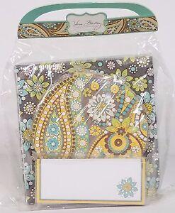 NIP Vera Bradley gray green Lemon Parfait Happy Hour Set coasters napkins