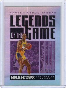 2020-21 NBA Hoops KAREEM ABDUL-JABBAR Legends Of The Game #9 /199 Lakers