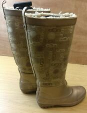 UGG AUSTRALIA WINTER WOMEN BEIGE RUBBER KNEE HIGH BOOTS SHOES SIZE UK 3.5 EU 36
