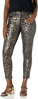 Vintage America Sz. 10/30 High Rise Skinny Ankle Foil Animal Print NWT