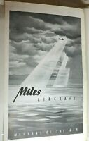 1944 WW2 Miles Aircraft Company Advert Original Full page  32x19 cm's