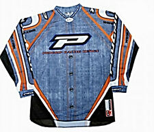 Maglia elasticizzata moto cross 7012/07 jeans enduro PROGRIP bianco nero tg.M