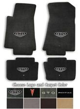Pontiac GTO 4pc Classic Loop Carpet Floor Mats - Choose Color & Logo