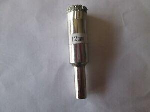 foret mèche Diamant Ø 12 mm - Carrelage Verre Grès cérame - Scie cloche Trépan