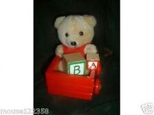 Large Christmas Bear Ornament Bear in Wagon Abc Blocks