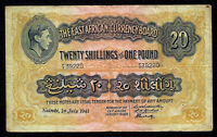 EAST AFRICA 20 SHILLINGS 1941  P- 30a