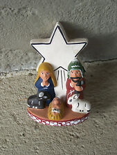 Clay Nativity Set - Holy Family with Star  - Peru