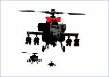 BANKSY HELICOPTER WITH BOW vinyl wall,car,van decal sticker