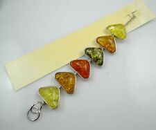 Precious Modernist Oval Cut  Amber Handmade Bracelet  HB1-0017