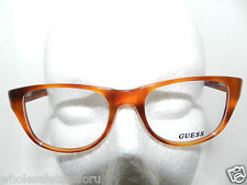 NEW W/ CASE GUESS ORANGE DESIGNER EYEGLASS GLASSES FRAME GU 1737 HNY 50-18-140