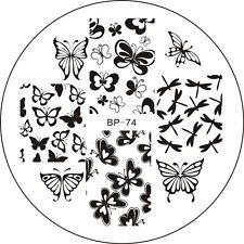 Stamping Schablone Schmetterlinge Libellen Schmetterling BP-74