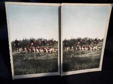 Coloured Stereoscopic No 4 Left & Right Cards In The Hunting Field