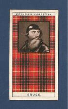 CLAN BRUCE TARTAN Broomhall House Lochmaben Castle  original 1927 card   FUIMUS