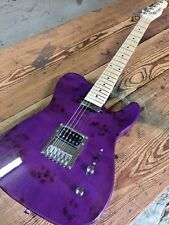 2017 S-H BIRDSEYE MAPLE TRANS PURPLE PRO TELE 6 STRING ELECTRIC GUITAR HUMBUCKER