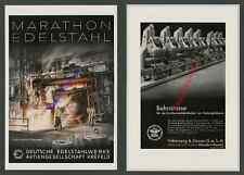 Reklame Edelstahlwerke Krefeld-Fischeln DEW Hochofen Arbeiter Montan Metall 1939