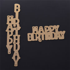 Gold Metal Birthday Word Cutting Dies Stencil DIY Scrapbook Craft Decor Nice