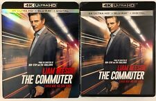 THE COMMUTER 4K ULTRA HD BLU RAY 2 DISC SET + SLIPCOVER SLEEVE FREE WORLSHIPPING