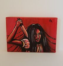 Mimiko-Original 5x7 Acrylic Painting Inspired by the One Missed Call Film Series