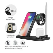 4-in-1 Qi Wireless Charger Station Dock 1 For Apple Watch/iPhone 11/Earphone/Pen