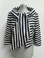 Beautiful silk Michael Kors jacket lightweight in navy & white stripe US6 UK10