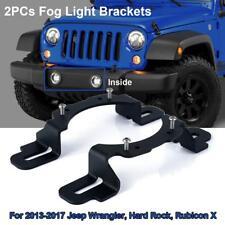 """4"""" LED Fog Light Hidden Front Bumper Mount Brackets For 2013-2017 Jeep Wrangler"""