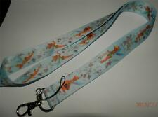 MOBILE PHONE/IDENTITY CARD LANYARD NECK STRAP TINKERBELL PALE BLUE