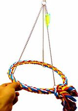 1476 BIG CHAIN PYRAMID ROPE SWING BIRD TOY parrot cage toys cages conure amazon