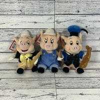 Disney Three Little Pigs Fiddler Practical Fife Pig Plush Soft Toy With Tags