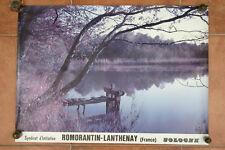 Affiche ancienne ROMORANTIN LANTHENAY SOLOGNE tourisme vintage poster paysage
