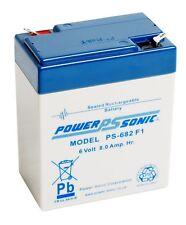 6V 8.0Ah SLA Battery Powersonic PS-682