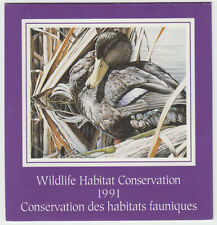 Canada - #FWH7 1991 Wildlife Conservation Stamp Booklet - Black Duck