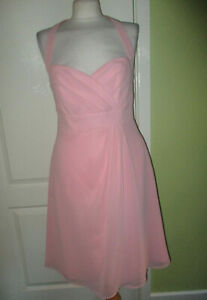 BNWT ALFRED ANGELO SIZE 14 WOMENS PINK PROM BRIDESMAIDS DRESS KNEE LENGTH