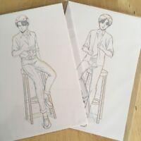 Attack on Titan - Illustration Postcard - Levi / Eren - I.G store Event Limited