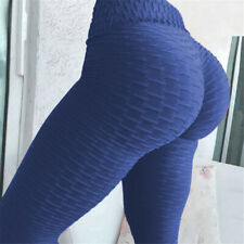 High Waist Yoga Pants Fitness Leggings Women Gym Push Up Trousers Solid Bottoms