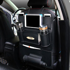 Car Seat Back shelf Organizer Storage Bag iPad Phone Holder Multi-Pocket Leather