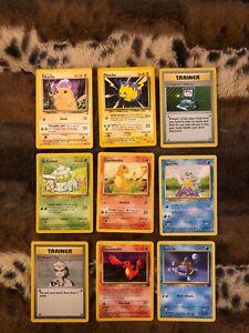 Pokemon Cards Set Of 9 Original Cards