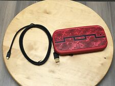 Red Motorola X Sol Republic Deck Bluetooth NFC Wireless Speaker With Usb Cable