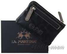 Portachiavi in pelle LA MARTINA - mod. 513.005 - nero/black