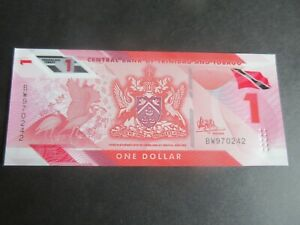 TRINADAD & TOBAGO, PNEW POLYMER, $1 -  UNCIRCULATED
