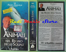 film VHS VIAGGIO NEL MONDO DEGLI ANIMALI Nel regno squali SIGILLATA (F88*)no dvd