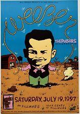 Mint Original Weezer Fillmore Poster F279 7/19/1997 Weissman