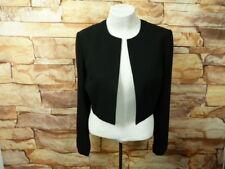 Liz Claiborne Womens  Cardigan Top Open Front Size 12P Black F-32